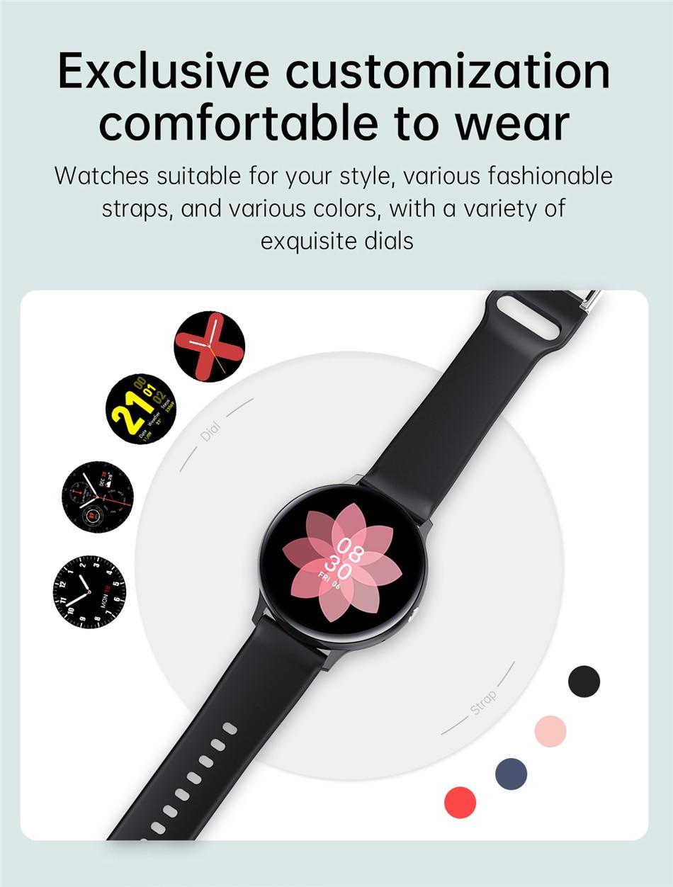 Hba4503f0404f4e9e938dab079a936651C LIGE New Smart Bluetooth Call Watch Men Women Heart Rate Sports fitness tracker Bracelet Watch Man for Android IOS Xiaomi Huawei