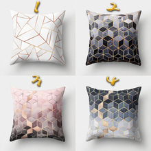 Pillow-Cases Cushion-Cover Decorative Throw Geometric Polyester Home for Sofa Car Black