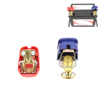 Universal Car Battery Clamp Car Battery Terminals Connector Clamps Quick Release Lift Off Removable Connector image