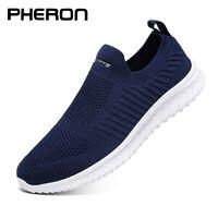 Zapatos de malla de verano para Hombre, zapatillas ligeras informales a la moda para caminar, mocasines transpirables de diseñador