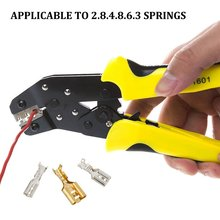 Ratchet Type Bare Terminal Crimping Pliers Plug Spring Crimping Pliers Insulated Terminal Pliers Cold Press Pliers 10 16 25 35mm super strength saving crimping pliers ratchet crimping tool insulated and non insulated cable end sleeves dr1035gf