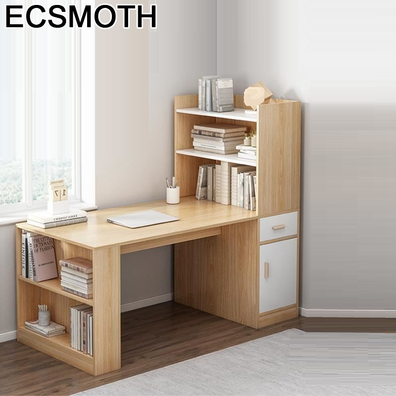 Bureau Meuble Standing Escritorio Mueble Escrivaninha Biurko Tafel Notebook Mesa Desk Computer Laptop Stand Table With Bookcase