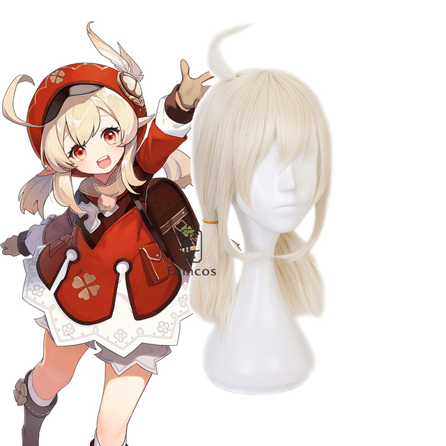 Game Genshin Impact Klee Cosplay Costume Wigs Shoes Loli Party Outfit Uniform Women Halloween Carnival Costumes 5