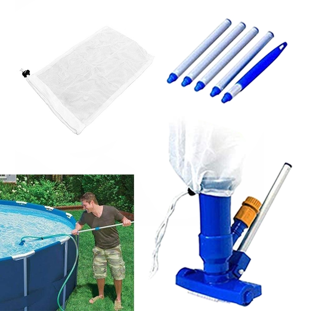 Hba454d4539f34e7d9302a75010389eecB - 1 Set Jet Swimming Pool Vacuum Cleaner Floating Objects Cleaning Tools Vac Suction Head Pool Fountain Vacuum Brush Cleaner