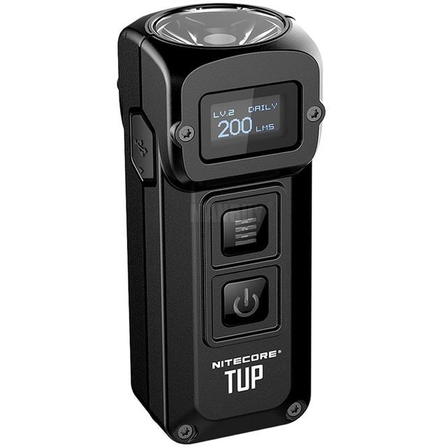 NITECORE TUP Llavero metálico de acero inoxidable, 1000 lúmenes, pantalla OLED, EDC, recargable vía USB, botón de luz, Envío Gratis