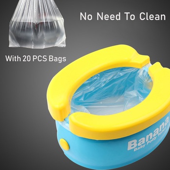 Portable Baby Toilet Foldaway Potty Children Vehicular Urinal With 20Pcs Urine Bags Kids Travel Toilet Seat Kids Outside Potty 5