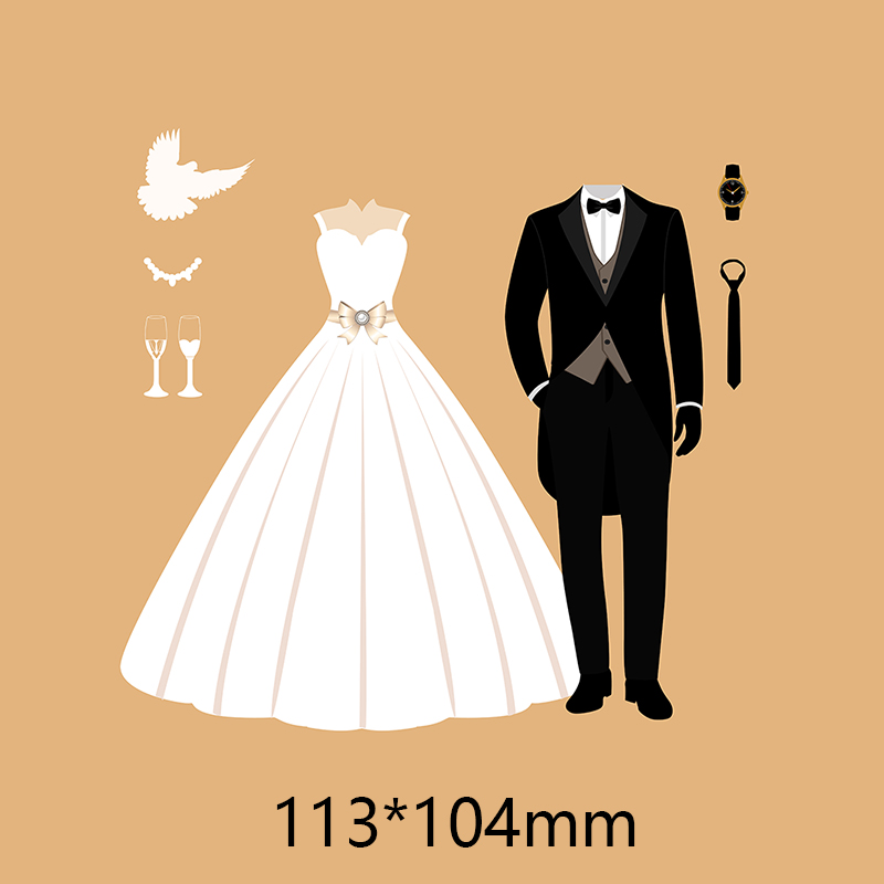 metal steel clothing Craft Card Cutting Dies  Scrapbooking Stencils For DIY Photo Album Decoration Embossing paper cards