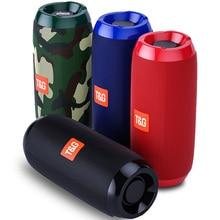 Portable Bluetooth Speaker 20w Wireless Bass Column Waterproof Outdoor USB Speakers Support AUX TF Subwoofer Loudspeaker TG117