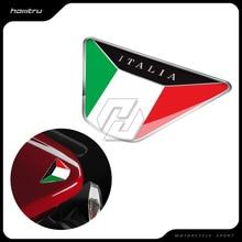 3D żywica naklejka motocyklowa flaga włoch etui z naklejką dla ducati triumph piaggio vespa MP3 ZIP PK PX X9