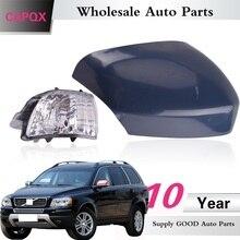 Capqx para volvo xc70 2008 2012 para xc90 07 14 fora espelho retrovisor capa espelho retrovisor capa escudo & virar a luz indicadora