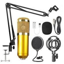 Bm 800 profesjonalny regulowany mikrofon kondensujący zestawy mikrofon do karaoke pakiet mikrofon do komputera nagrywania studyjnego