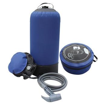 Bolsa de Ducha de Camping portátil para exterior 11L, ducha inflable para exterior con bomba para pies y boquilla de ducha para playa, natación, viaje, senderismo
