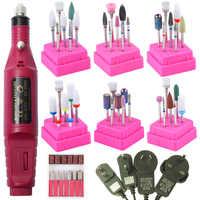 1 Set Electric Nail Drill Machine Manicure Pedicure Strong Nail Art Professional Nail File Polishing Equipment Tools Bands Kit