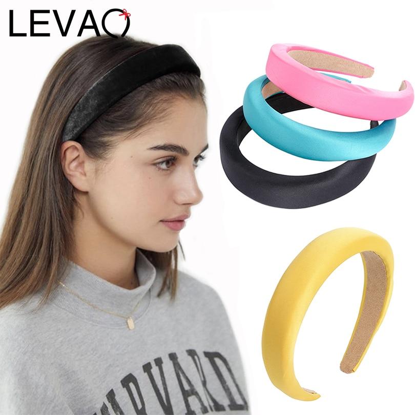 LEVAO Milk Silk Sponge Medium Thick Padded Headband Hair Ornaments Bezel Turban Girls Headwear Women Hairband Hair Accessories