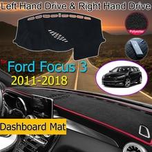 フォードフォーカス3 2011 2018 Mk3抗スリップマットダークマットシェーディングパッド防止サンシェードdashmat車アクセサリー