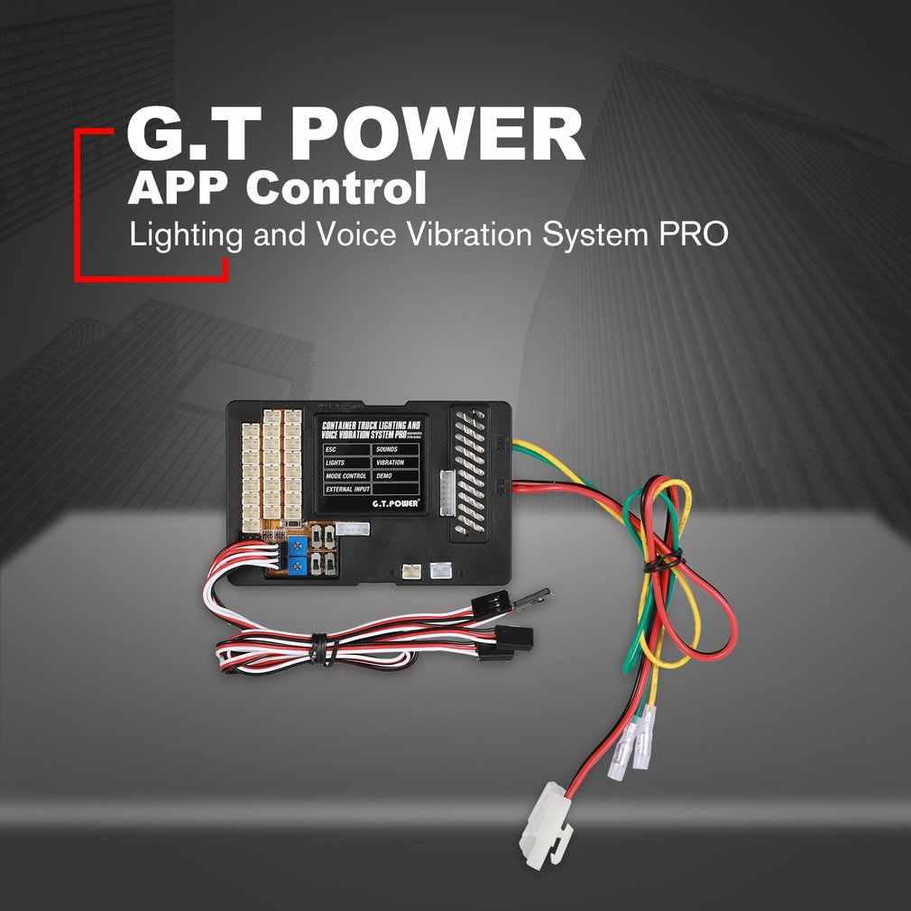 G.T. Питание освещение Голосовая система вибрации PRO управление приложением для RC автозапчастей контейнер грузовик контроль коробка для платы ESC режим
