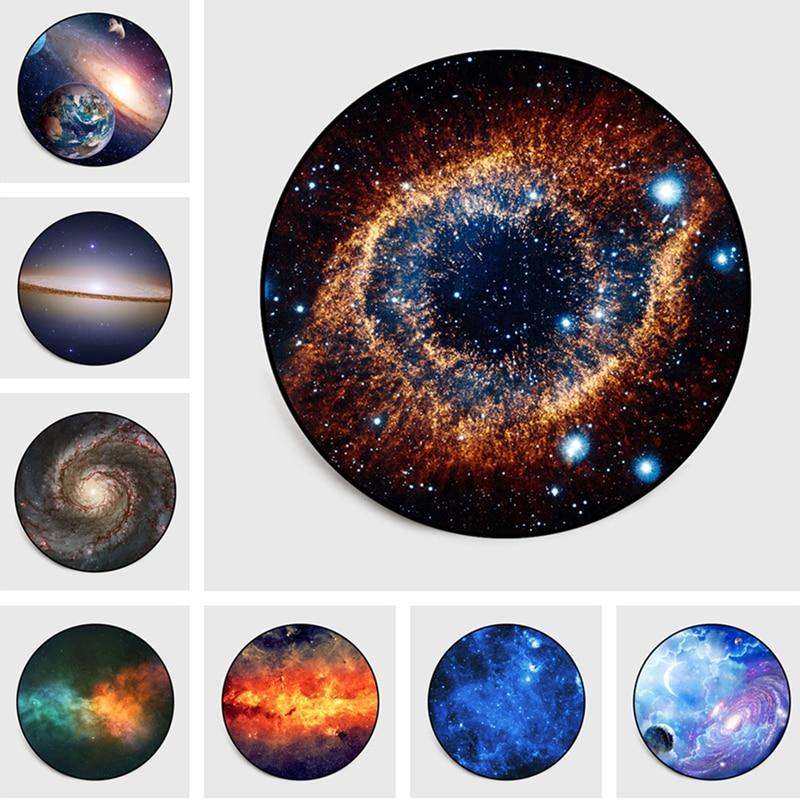 Beautiful 3D Planet Carpet Space Universe Cosmic Galaxy Rug Moon Baby Livingroom Children Bedroom Round Carpet Parlor Floor Mat