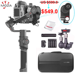 Moza Air 2 3-Axis Handheld Gimbal Stabilizer with iFocus-M Follow Focus Motor for Canon Nikon Sony Lumix DSLR Mirrorless Cameras