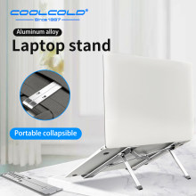 COOLCOLD Laptop Stand Height Adjustable Aluminum Laptop Riser Holder Portable Ergonomic Notebook to 17 inch for MacBook Air Pro(China)