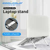 Coolcold portátil estande altura ajustável de alumínio portátil riser titular portátil ergonômico notebook a 17 polegada para macbook ar pro