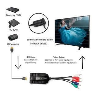 Image 3 - HDMI ölçekleyici YPbPr dönüştürücü HDMI 5RCA RGB YPbPr bileşen Video kablosu desteği 1920x1080 P HDMI bileşen YPbPr