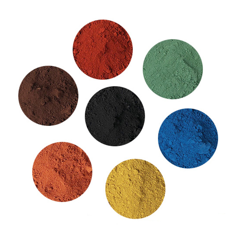 Iron Oxide Pigment Cement Coloring Red Yellow Black Green Blue Pastel Tile Paint Color Pigment Powder