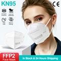 10-200 шт. KN95 маска для лица FFP2 дышащая Безопасность пылезащитный респиратор рот маски фильтрации маске защитный многоразовые Mondkapje
