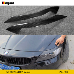 Carbon Fiber Koplamp Wenkbrauw Oogleden Voor Bmw Z4 2009 - 2012 E89 Glasvezel Primer Matte Black Front Decoratieve Sticker 2 Pcs