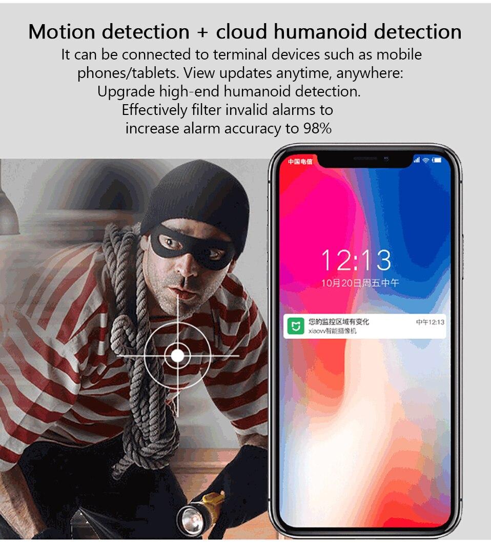 Vigilância Cam WI-FI Sem Fio visão Noturna Com Mijia APP