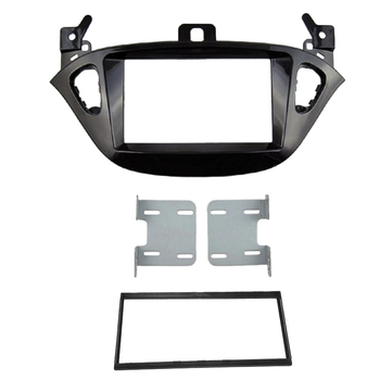 Car Radio Fascia Facia Stereo Dash Kit Panel Trim for Opel Corsa E From 2015, Adam From 2013 - Black