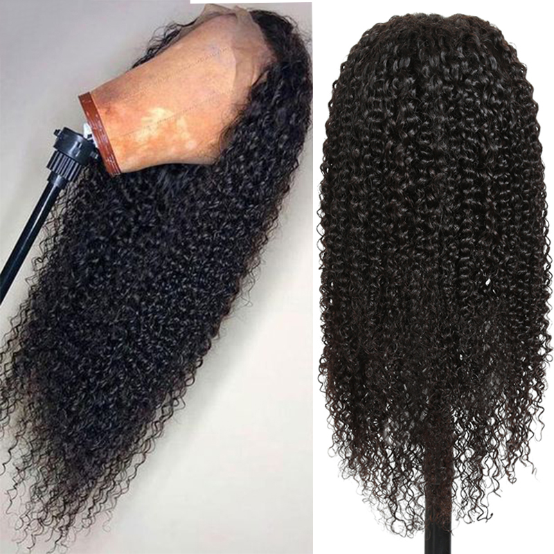 Brazilian Afro Kinky Curly Lace Wigs Invisible 13x6 13x4 Lace Front Human Hair Wigs For Black Women Pre Plucked Remy Hair Wig