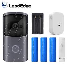 LeadEdge akıllı WiFi Video kapı zili kamera görsel interkom Chime ile gece görüş IP kapı zili kablosuz ev güvenlik kamerası