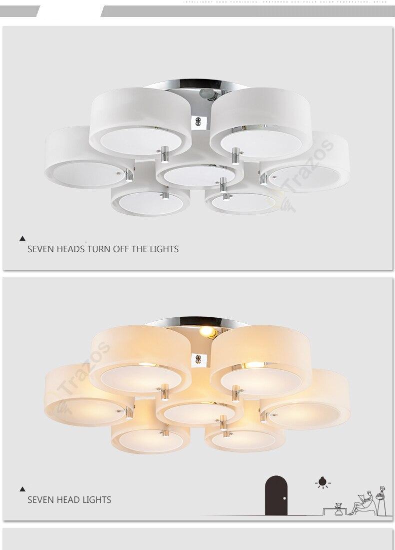 Hba475b6787c743b6b917510a971c8d0fM NEW 2019 Modern Ceiling Lights modern fashionable design dining room lamp pendente de teto de cristal white shade acrylic lustre