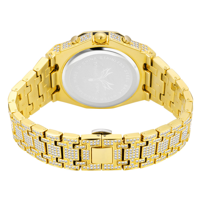 luxury mens business watches full diamonds ice out watch hip hop quartz watch for men 18k gold plated waterproof auto date male clock man drop shipping for shopify 2020 (28)