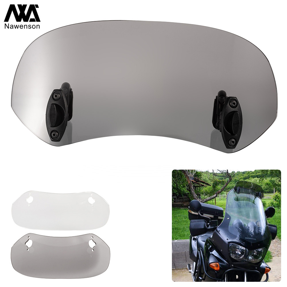 Motorcycle Spoiler Windscreen Extension Add-On Air deflector Adjustable Aerofoil Universal Fitment title=