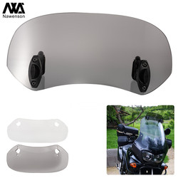 Motorcycle Spoiler Windscreen Extension Add-On Air deflector Adjustable Aerofoil Universal Fitment