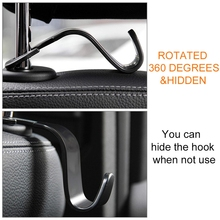1 Pc Universal Car Seat Back Hook Headrest Storage Mounting Hook Bag Hanger Auto Interior Organizer Accessories