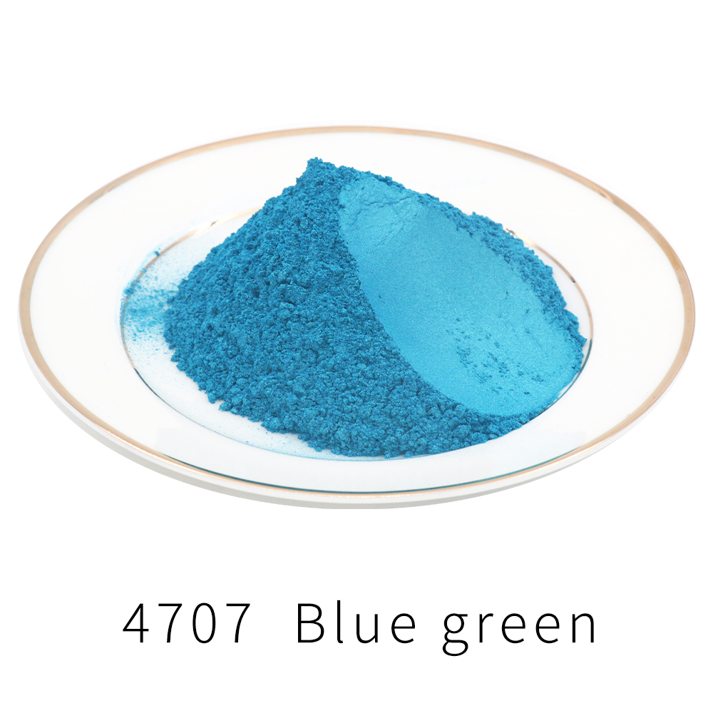 Pigment Pearl Powder Acrylic Paint Type 4707 50g For Craft Art Automotive Paint Soap Dye Colorant Blue Green Mica Powder Pigment