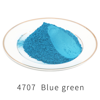 Pigmento perla polvo acrílico pintura tipo 4707 50g para arte automotriz pintura jabón colorante para teñido azul verde Mica pigmento en polvo