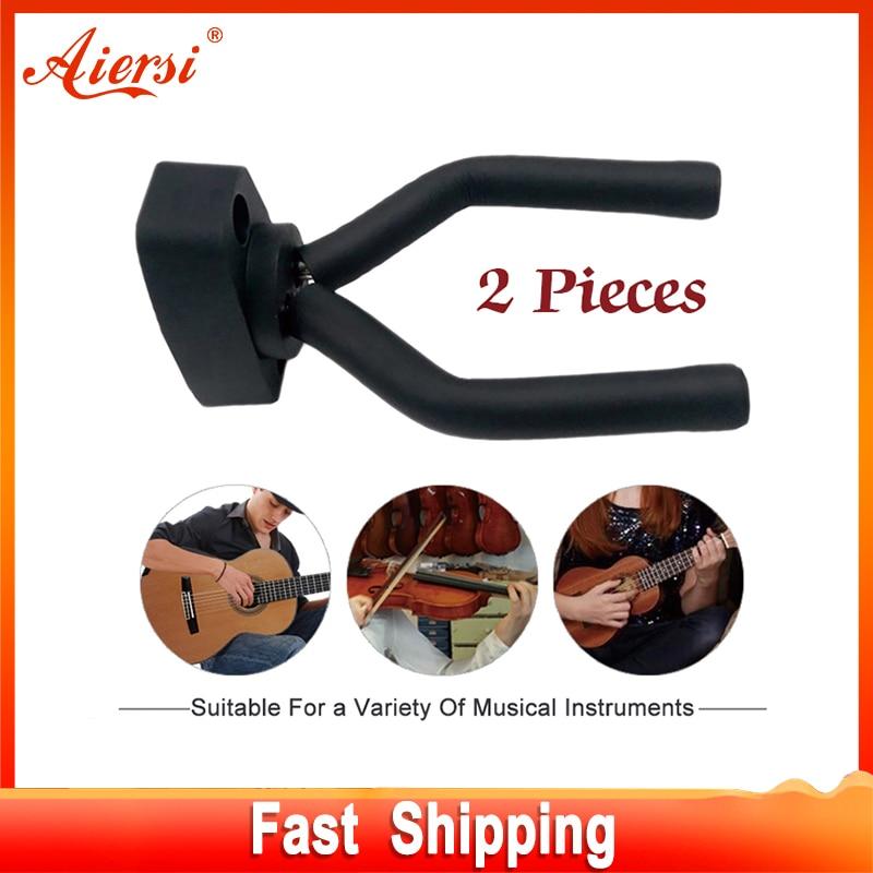 2 piezas guitarra violín soporte de suspensión gancho de montaje en - Instrumentos musicales