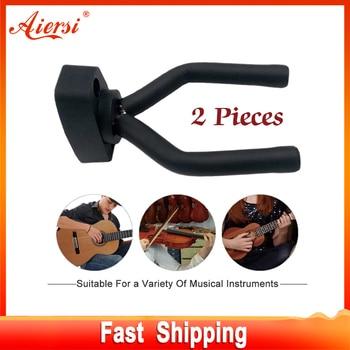 Suporte de suporte para violino de guitarra de 2 peças, gancho de montagem na parede adequado para violino ukulele baixo e outros instrumentos de cordas