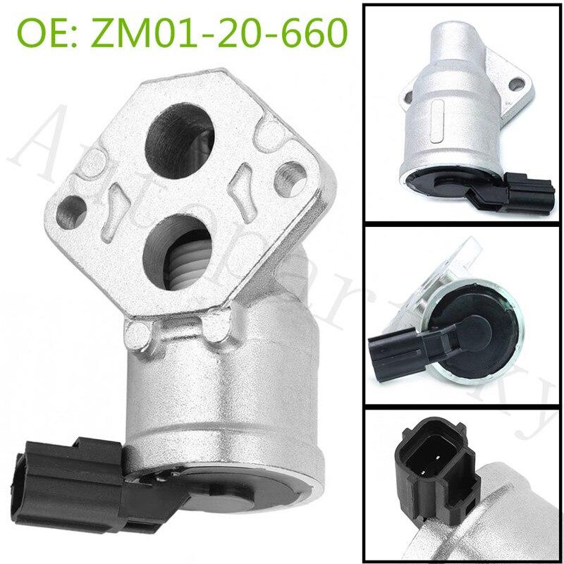 ZM0120660 ZM01-20-660 OEM регулирующий клапан холостого хода для Mazda Protege 1.6L 1999-2003 BY2Y-20-660 BY2Y20660 AC273 2H1192 AC4073 title=
