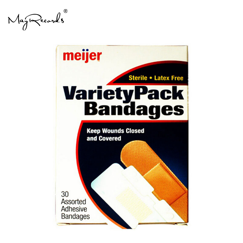Free Shipping 90 Pcs/3Boxes Variety Pack Adhesive Bandages Assorted Sizes Flexible First Aid Hemostasis Outdoor Band Aid