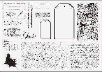 CLEAR STAMP Label background  DIY Scrapbook Card album paper craft silicon rubber roller transparent stamps  157