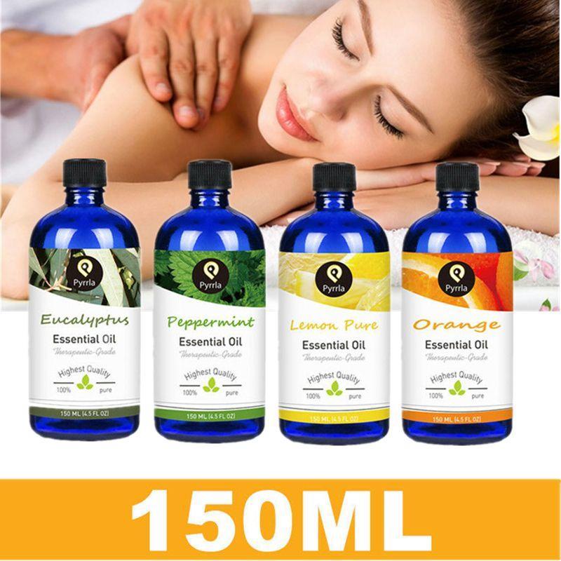 Pyrrla Pure Essential Oils 150ml Fragrance Oil For Aromatherapy Lamp Humidifier Orange Lemon Peppermint Eucalyptus Oil Essential