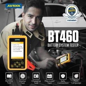 Image 2 - AUTOOL BT460 רכב סוללה בודק 12V 24V רכב סוללות ניתוח מטר רכב מהיר לסובב טעינה אבחון כלי PK KW600