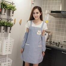 Korean fashion waterproof oil-proof lovely princess tea shop apron kitchen home pure cotton work clothes