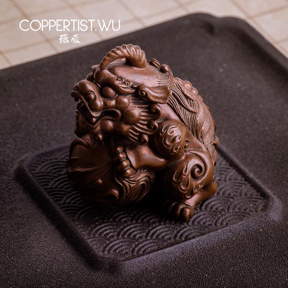 COPPERTIST.WU традиционная китайская ручная работа HAECHI --- только для выставки, а не для продажи.