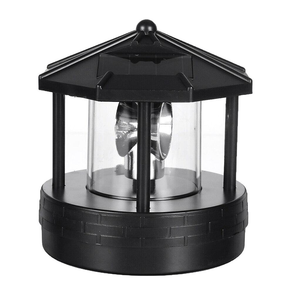 24V Solar LED Rotating Lighthouse Light Garden Yard Lawn Lamp Lighting For Outdoor Home Decor