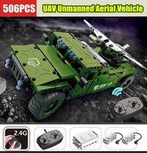 New 8013 RC Military Car Remote Control Jeep UAV Unmanned Aerial Vehicle Fit Technic Building Block Brick Kid Toys birthday
